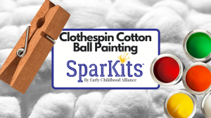Product Thumbnail - Clothespin Cotton Ball Painting